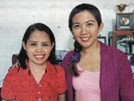 Heden Dayawon with her employer, Ms. Moonlake Lee