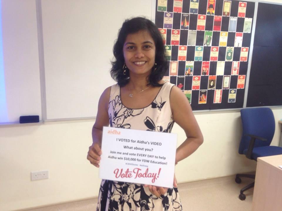 Nilushika continues to support Aidha