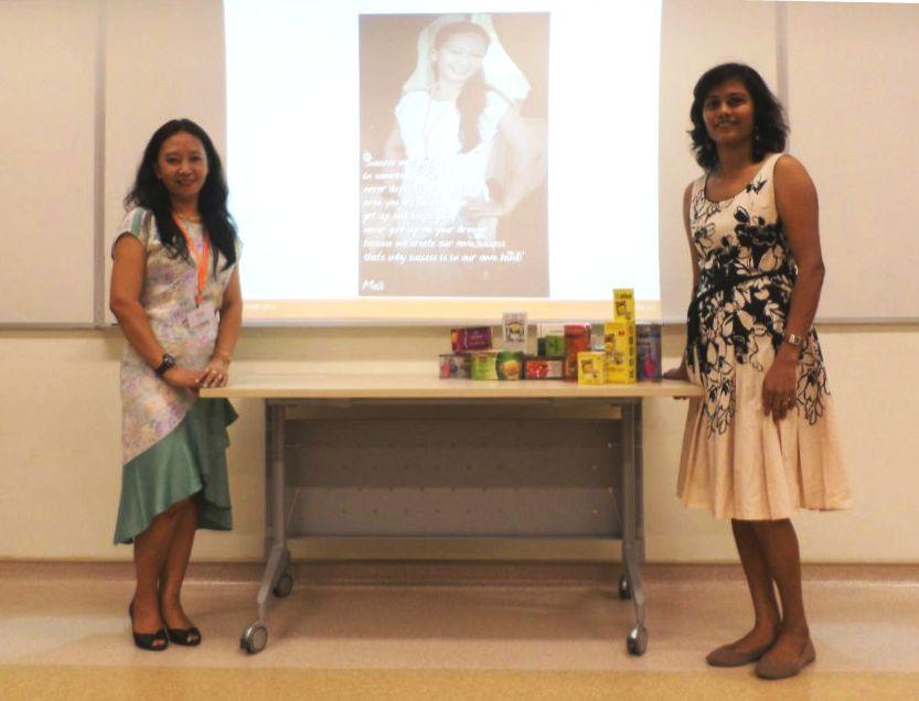 Emi Lester (left) and Nilushika