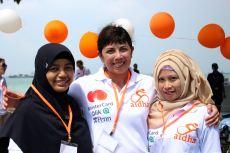 Tri as a volunteer at this year's Aidha Tour de Singapore charity bike ride.