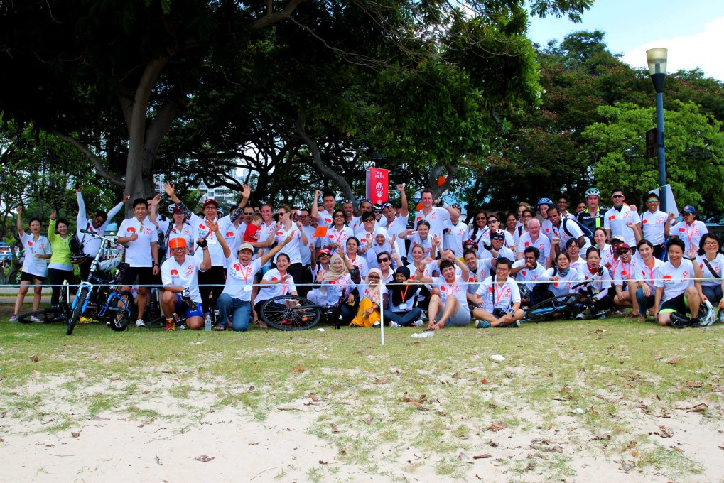 Aidha Tour de Singapore 2015 participants